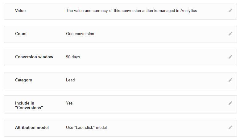 Correct Adwords Conversion Set Up